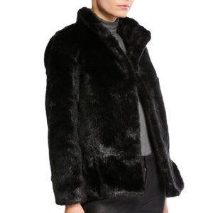 KATE SPADE Faux Fur Short Coat Jacket